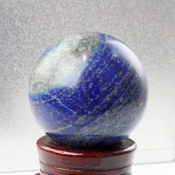 【大きい 64mm】 ラピスラズリ 丸玉|瑠璃 ラピスラズリ 青金石 Lapis Lazuli【Crystal ball 丸玉 Circle Ball 原石 Gemstone 球体 置物 大玉 ルース】メンズ レディース パワーストーン 天然石 海外直輸入価格 ラピスラズリ