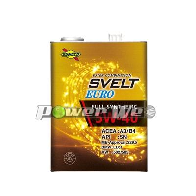 SUNOCO SVELT EURO エンジンオイル 5W-40 全合成油 A3/B4 SN (20L)