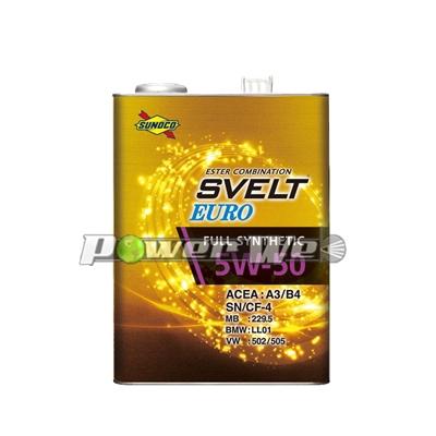 SUNOCO SVELT EURO エンジンオイル 5W-50 全合成油 A3/B4 SN/CF4 (20L)