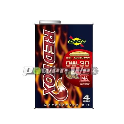 【送料850円】 (20L) SUNOCO RED FOX RACING  SPORTS バイク用 (4サイクル) 0W-30 全合成油 JASO MA2 (20L)