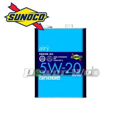 SUNOCO airy エンジンオイル 5W-20 SN/GF5 部分合成油 20L