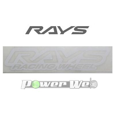 送料無料 W140mm ホワイト 74040200011WH 割引も実施中 RAYS No.22 WH racingLOGO プレゼント ステッカー ヌキ文字