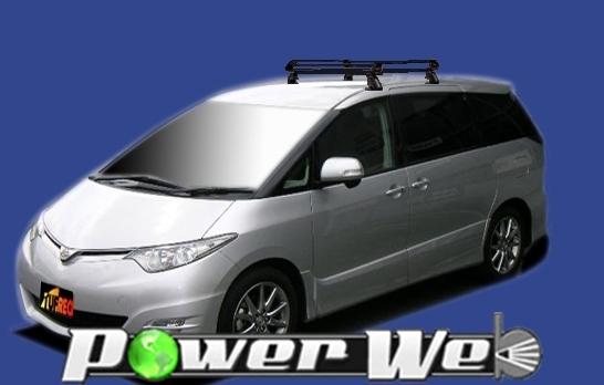 [PE42B1] TUFREQ (精興工業 タフレック) ルーフキャリア Pシリーズ トヨタ エスティマ 全車 H18.1~ GSR50W/ACR50W 【沖縄/離島発送不可商品】
