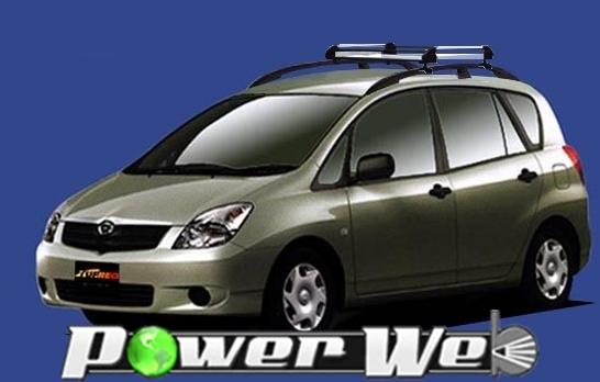 [HR22] TUFREQ (精興工業 タフレック) ルーフキャリア Hシリーズ トヨタ カローラスパシオ ルーフレール付車 H13.5~H19.6 E12# 【沖縄/離島発送不可商品】