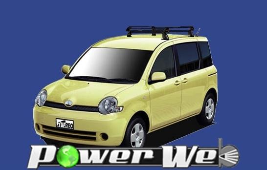 [PE22B1] TUFREQ (精興工業 タフレック) ルーフキャリア Pシリーズ トヨタ シエンタ 全車 H15.9~H22.10 NCP8# 【沖縄/離島発送不可商品】