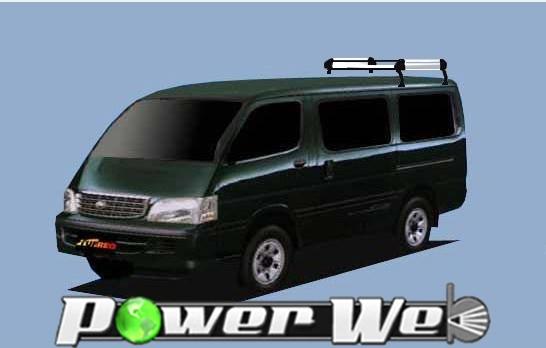 [HL42] TUFREQ (精興工業 タフレック) ルーフキャリア Hシリーズ トヨタ ハイエースワゴン 標準ルーフ(標準幅) H1.8~H16.8 H1# 【沖縄/離島発送不可商品】