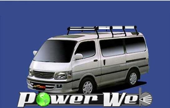 [HH44] TUFREQ (精興工業 タフレック) ルーフキャリア Hシリーズ トヨタ ハイエースワゴン ミドルルーフ(トリプルムーンルーフ) H1.8~H16.8 H1# 【沖縄/離島発送不可商品】