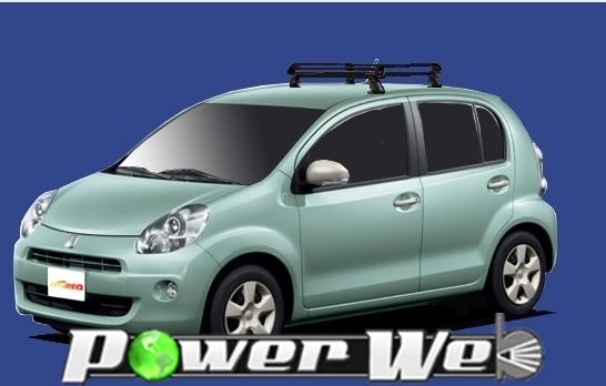 [PE22A1] TUFREQ (精興工業 タフレック) ルーフキャリア Pシリーズ トヨタ パッソ 全車 H22.2~ NGC30 【沖縄/離島発送不可商品】