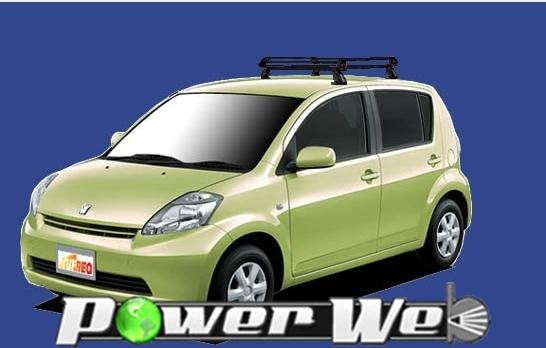 [PE22B1] TUFREQ (精興工業 タフレック) ルーフキャリア Pシリーズ トヨタ パッソ 全車 H16.6~H22.2 C1# 【沖縄/離島発送不可商品】