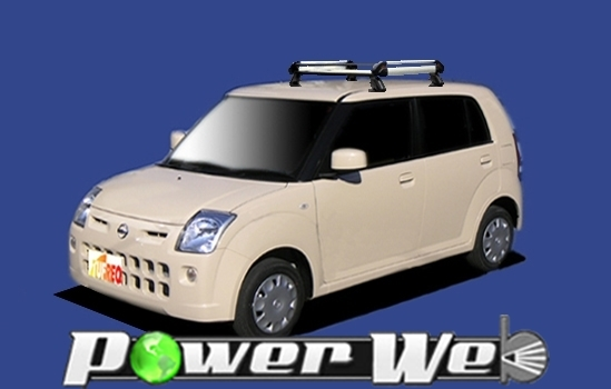 [HE22C1] TUFREQ (精興工業 タフレック) ルーフキャリア Hシリーズ 日産 ピノ 全車 H19.1~ HC24S 【沖縄/離島発送不可商品】