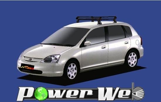 [PE22B1] TUFREQ (精興工業 タフレック) ルーフキャリア Pシリーズ ホンダ シビック 全車 H12.9~H17.9 EU 【沖縄/離島発送不可商品】