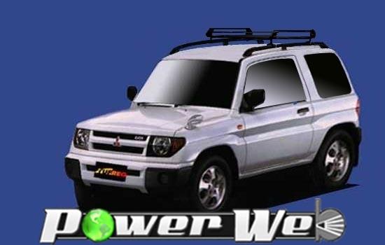 [PR22] TUFREQ (精興工業 タフレック) ルーフキャリア Pシリーズ 三菱 パジェロイオ 3ドア ルーフレール付車 H10.6~H19.6 H61W/H66W