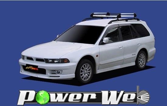 [HR22] TUFREQ (精興工業 タフレック) ルーフキャリア Hシリーズ 三菱 レグナム ルーフレール付車 H8.8~H14.8 EA/EC 【沖縄/離島発送不可商品】