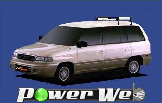 [HL42] TUFREQ (精興工業 タフレック) ルーフキャリア Hシリーズ マツダ MPV ルーフレール無車 H5.8~H11.6 LV 【沖縄/離島発送不可商品】