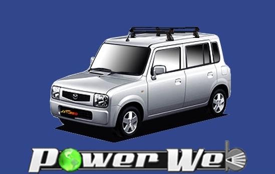 [PE22C1] TUFREQ (精興工業 タフレック) ルーフキャリア Pシリーズ マツダ スピアーノ 全車 H14.2~H20.11 HF21S 【沖縄/離島発送不可商品】