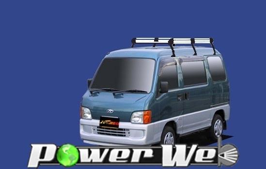 [HH238A] TUFREQ (精興工業 タフレック) ルーフキャリア Hシリーズ スバル サンバーディアス 全車 H11.2~H19.6 TV/TW 【沖縄/離島発送不可商品】