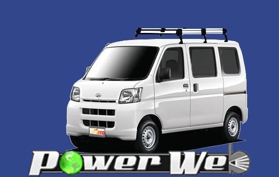 [HL434C] TUFREQ (精興工業 タフレック) ルーフキャリア Hシリーズ ダイハツ ハイゼットカーゴ 標準ルーフ H16.12~ S32#V/S33#V 【沖縄/離島発送不可商品】