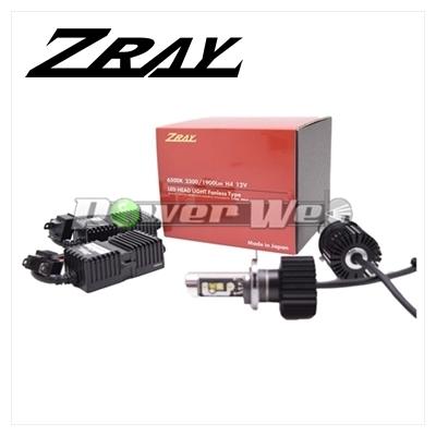 [RH5] ZRAY ヘッドランプ用 LEDバルブ 12V用 H4(ファンレスモデル) 6500K