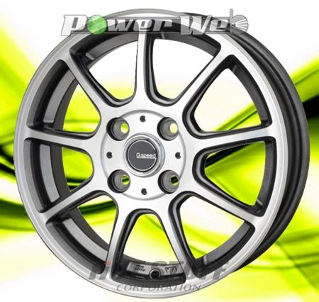 [ホイールのみ単品4本セット] HOT STUFF / G.speed P01 (GM/P) 15インチ×4.5J PCD:100 穴数:4 インセット:45