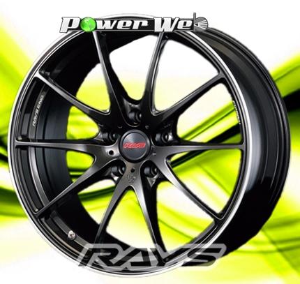 [ホイール1本(単品)]RAYS / VOLK RACING G25 (FSL/BK) 19インチ×9.5J PCD:114.3 穴数:5 インセット:35