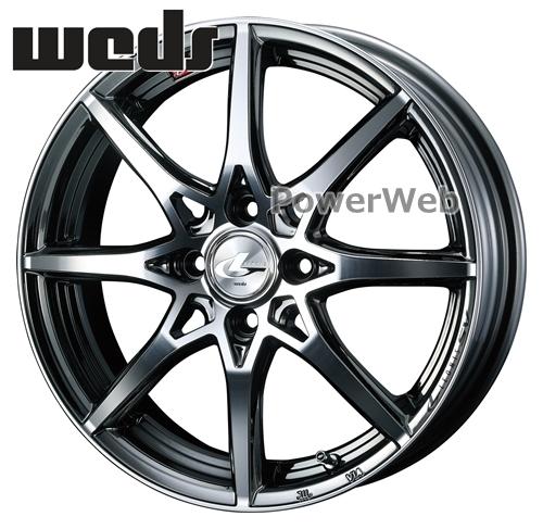 [ホイールのみ単品4本セット] Weds / LEONIS SV 17インチ×6.5J PCD:100 穴数:4 インセット:42 ブラックメタルコート/ミラーカット (BMCMC)