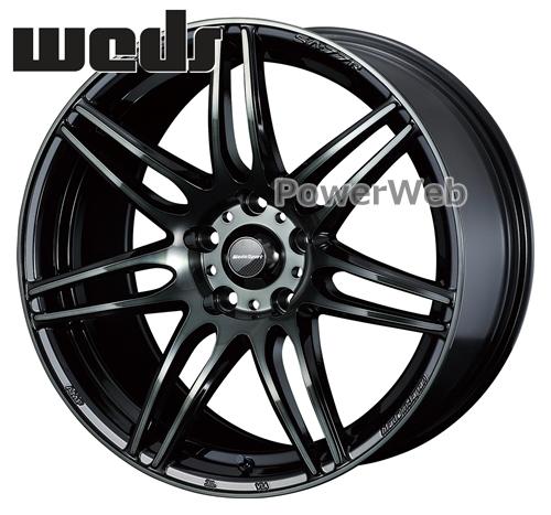 [ホイール1本(単品)] WedsSport / SA-77R 17インチ×7.5J PCD:100 穴数:5 インセット:48 ウォースブラッククリアー (WBC)