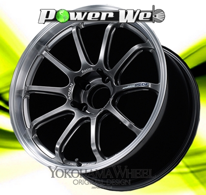 [ホイールのみ単品4本セット] YOKOHAMA WHEEL / ADVAN Racing RS-DF (MHB) 18インチ×10.0J PCD:114.3 穴数:5 インセット:35