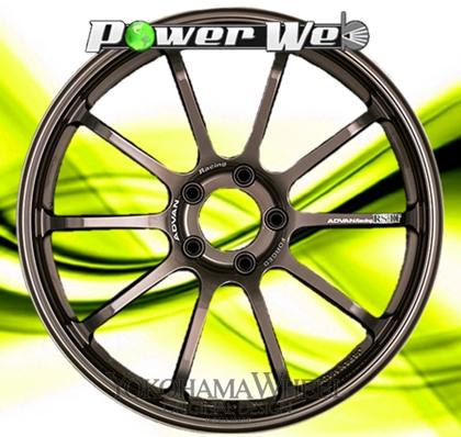 [ホイールのみ単品4本セット] YOKOHAMA WHEEL / ADVAN Racing RS-DF (HBZ) 19インチ×10.5J PCD:114.3 穴数:5 インセット:15