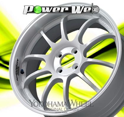 [ホイール1本(単品)] YOKOHAMA WHEEL / ADVAN Racing RZ-DF (WW) 18インチ×7.5J PCD:100 穴数:4 インセット:39
