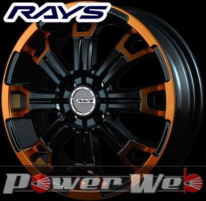 RAYS(レイズ) DAYTONA KCX (デイトナ KCX) 15インチ 5.0J PCD:100 穴数:4 inset:48 カラー:ブラック/ダイヤモンドカット/オレンジクリア [ホイール1本単位]M