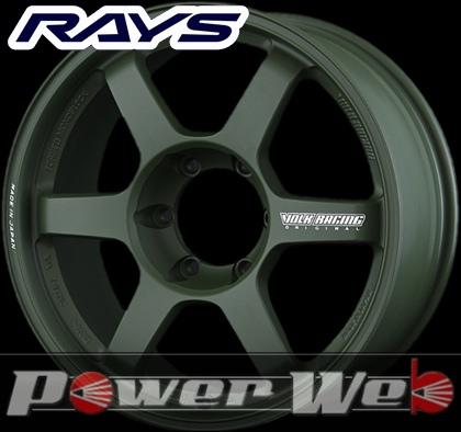 RAYS(レイズ) VOLK RACING TE37 LARGE P.C.D. Progressive Model (ボルクレーシング TE37 ラージ P.C.D プログレッシブモデル) 18インチ 8.0J PCD:139.7 穴数:6 inset:20 カラー:マットダークグリーン [ホイール単品4本セット]M