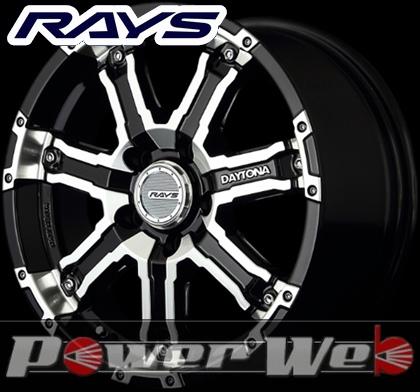 RAYS(レイズ) DAYTONA FDX-D (デイトナ FDX-D) 16インチ 7.0J PCD:114.3 穴数:5 inset:40 カラー:ブラック/フルダイヤモンドカット [ホイール単品4本セット]M