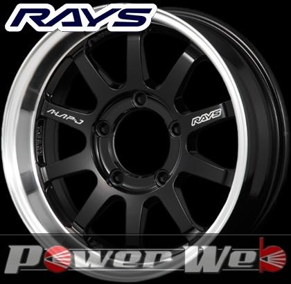 RAYS(レイズ) KC DECOR A・LAP-J (KC デコール エーラップ-J) 16インチ 5.5J PCD:139.7 穴数:5 inset:-20 カラー:ブラック/リムDC [ホイール1本単位]M