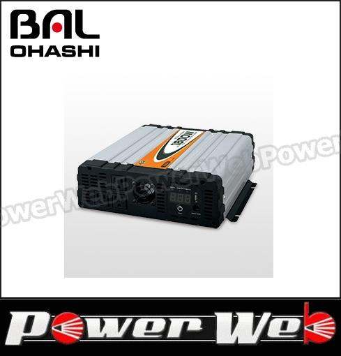 大橋産業 BAL(バル) 品番:No.489 DC/AC正弦波インバーター 1800
