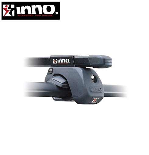 CARMATE inno (カーメイト イノー) VOLKSWAGEN ゴルフトゥーラン 型式:1T系 年式:H16.4~ ルーフレール付車 フット:IN-AR+フック:K320+バー:IN-B127(ブラック) スクエアベース 1台分セット