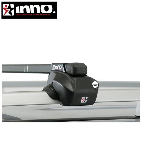 CARMATE inno (カーメイト イノー) メルセデス ベンツ Vクラス 型式:638系 年式:H10.6~H15.10 ベースレール付車 フット:IN-FR+フック:IN190+IN194+バー:IN-B147(ブラック) スクエアベース 1台分セット