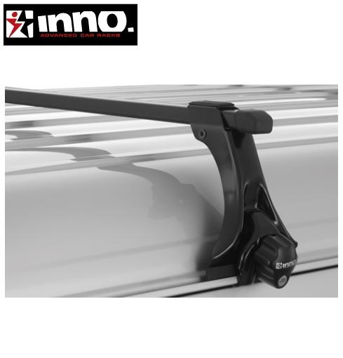 CARMATE inno (カーメイト イノー) トヨタ ライトエース 型式:R40/R50系 年式:H8.10~H20.1 標準ルーフ フット:IN-SDK+バー:B127(ブラック) スクエアベース 1台分セット