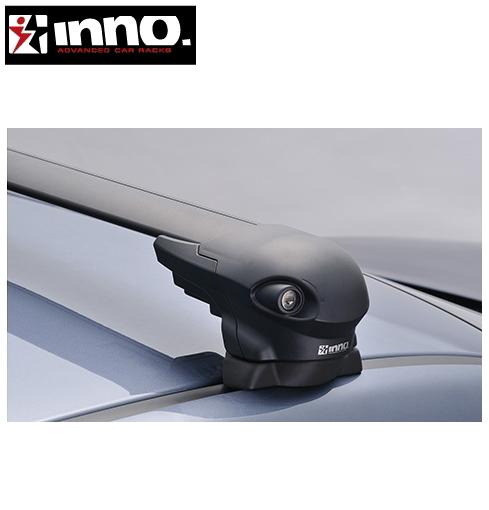 CARMATE inno (カーメイト イノー) スバル レヴォーグ 型式:VM系 年式:H26.6~ 5ドア フット:XS300+フック:TR145+バー:XB108/XB100(ブラック) エアロベース 1台分セット