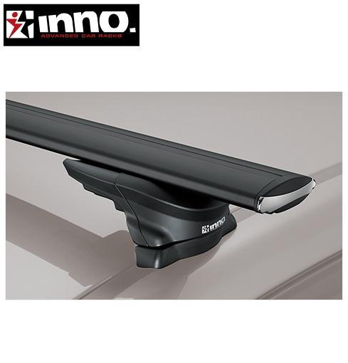 CARMATE inno (カーメイト イノー) ニッサン エクストレイル 型式:T31系 年式:H19.8~H27.2 ルーフレール付 フット:XS350+バー:XB130/XB130 エアロベース スルータイプ 1台分セット:PowerWeb