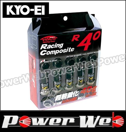 Racing 激安☆超特価 Composite R40 KYO-EI キョーエイ 品番:RC-01K レーシングコンポジットR40 入数:20個 M12×P1.5 カラー:クラシカル 日本製 全長:44mm 17HEX 20個入ナットセット