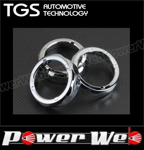 TGS 品番:TGS-AC401SCM ACC エアコンディショナーアジャスターリングセット クロームエディション クローム デリカD:5 CV4W/CV5W 【代金引換不可商品】