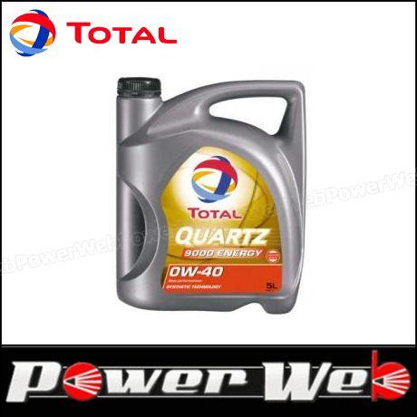 QUARTZ 9000 ENERGY 0W-40 5L×3個入 (1ケース)  TOTAL (トタル) QUARTZ 9000 ENERGY (クオーツ エナジー) 0W-40 (0W40) エンジンオイル 5L×3個入 (1ケース) 品番:195283