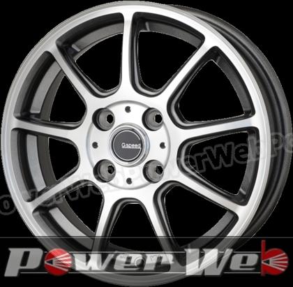 G.speed P01 (Gスピード P-01) ガンメタポリッシュ 14インチ 4.5J PCD:100 穴数:4 inset:45 HOT STUFF [ホイール単品4本セット]