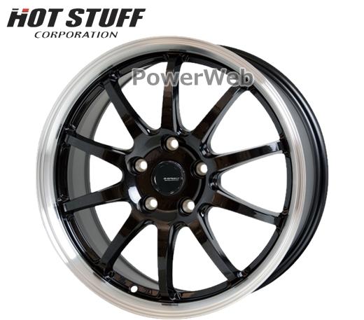 G.speed P04 (Gスピード P-04) メタリックブラック/リムポリッシュ 15インチ 6.0J PCD:100 穴数:5 inset:43 HOT STUFF [ホイール単品4本セット]