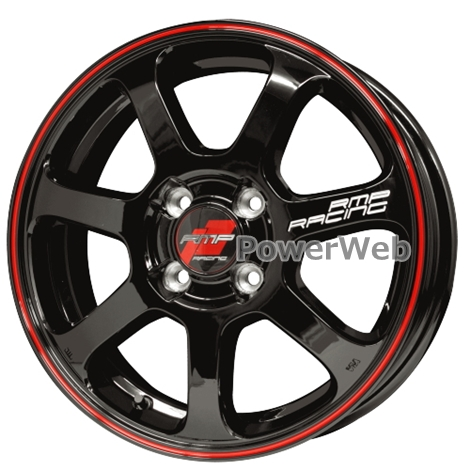 MID RMP RACING R07 (RMPレーシング R07) 16インチ 6.0J PCD:100 穴数:4 inset:43 ブラック/リムレッドライン [ホイール4本セット]
