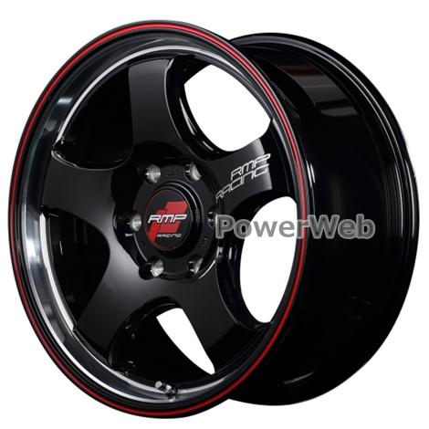MID RMP RACING R05HC (RMPレーシング R05HC) 17インチ 6.5J PCD:139.7 穴数:6 inset:38 ブラックリムヴァーティカルポリッシュ+レッドライン [ホイール1本]