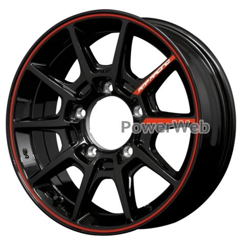 MID RMP RACING R25 JIMNY (RMPレーシング R25) 16インチ 5.5J PCD:139.7 穴数:5 inset:20 ブラック/リムレッドライン [ホイール1本]