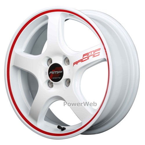 MID RMP RACING R50 (RMPレーシング R50) 16インチ 6.0J PCD:100 穴数:4 inset:43 ホワイトリムレッドライン [ホイール1本単位]