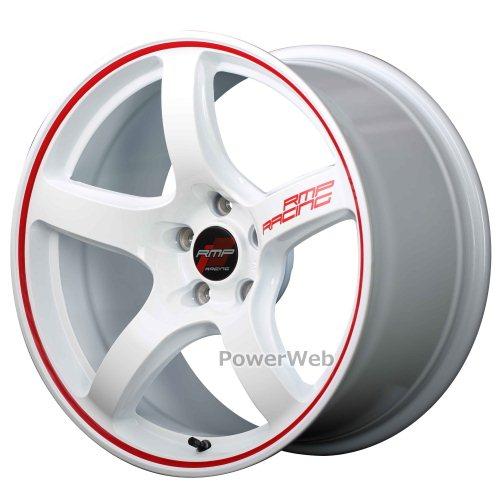 MID RMP RACING R50 (RMPレーシング R50) 18インチ 8.5J PCD:114.3 穴数:5 inset:45 ホワイトリムレッドライン [ホイール1本単位]