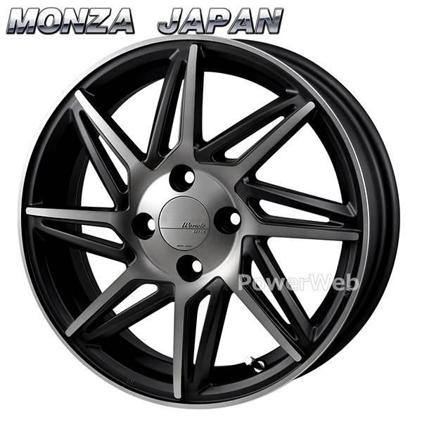 MONZA JAPAN Warwic REVOX (ワーウィック レヴォックス) ハーフグロスブラック/ブラッククリア 15インチ 4.5J PCD:100 穴数:4 inset:43 [ホイール1本単位]